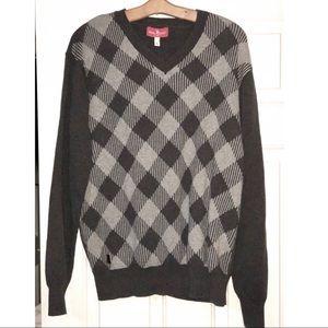 Mark Ecko cut & sew vneck sweater